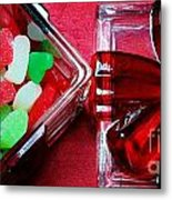 Christmas Candy - Candy Dish - Sweets - Treats Metal Print