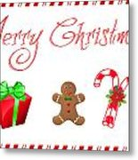 Christmas Card 25 Metal Print