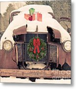 Christmas Car Card Metal Print