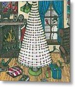 Christmas Card Drawing Metal Print