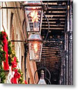 Christmas Card New Orleans Metal Print