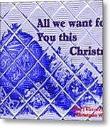 Christmas Cards And Artwork Christmas Wishes 54 Metal Print