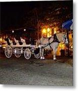 Christmas Carriage Metal Print