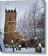 Christmas Church Metal Print
