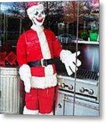 Christmas Clown Metal Print