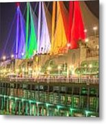 Christmas Colors At Canada Place Metal Print