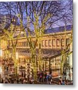 Christmas Crowd At Quincy Market Metal Print