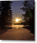 Christmas Day Sunset Metal Print by RJ Martens