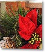 Christmas Decor Close Metal Print by Kenneth Sponsler