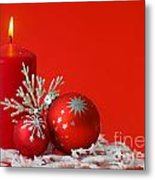 Christmas Decoration Background Metal Print