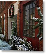 Christmas Decorations In Grants Pass Old Town  Metal Print