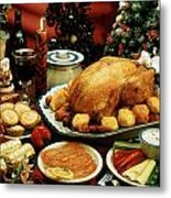 Christmas Dinner Metal Print by The Irish Image Collection