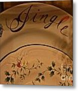 Christmas Dinnerware Metal Print