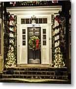 Christmas Door 2 Metal Print