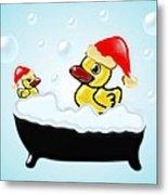 Christmas Ducks Metal Print