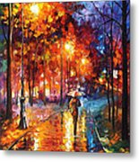 Christmas Emotions - Palette Knife Oil Painting On Canvas By Leonid Afremov Metal Print