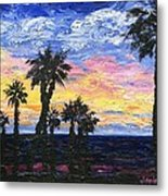 Christmas Eve In Redondo Beach Metal Print