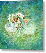 Christmas Fairies Metal Print by Lynn Bywaters