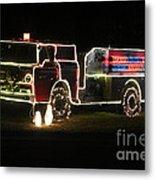 Christmas Fire Truck 2 Metal Print