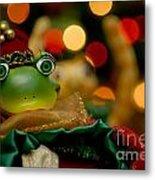 Christmas Frog Metal Print