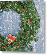Christmas Garland Metal Print