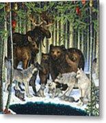Christmas Gathering Metal Print