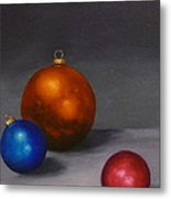 Christmas Glow Greeting Card  Metal Print