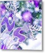 Christmas Greeting Card Metal Print