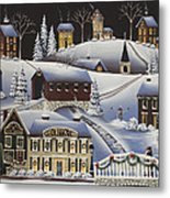 Christmas In Fox Creek Village Metal Print