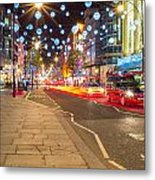 Christmas In London Metal Print