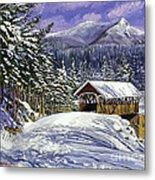 Christmas In New England Metal Print by David Lloyd Glover
