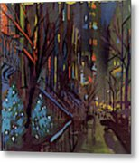 Christmas In New York Metal Print