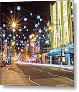 Christmas In Oxford Street Metal Print