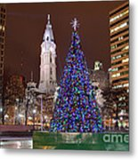 Christmas In Philadelphia Metal Print