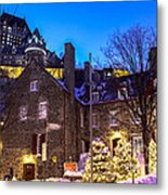 Christmas In Quebec Metal Print