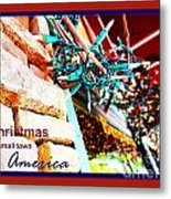 Christmas In Small Town America Metal Print