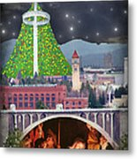 Christmas In Spokane Metal Print by Mark Armstrong