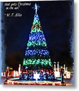 Christmas In The Air Metal Print