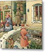 Christmas In The Town Metal Print