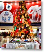 Christmas In The Train Station Metal Print