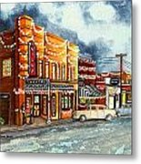 Christmas In Villa Rica 1950's Metal Print