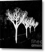 Christmas Lights In Black And White Metal Print