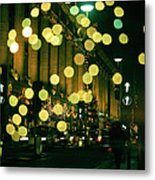 Christmas Lights In Oxford Streeet Metal Print