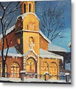 Christmas Magic In The Mountain Metal Print by Kiril Stanchev