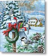 Christmas Mail Metal Print