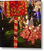 Christmas Mailbox Metal Print