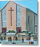 Christmas Mass At Saint Joseph's Church Metal Print