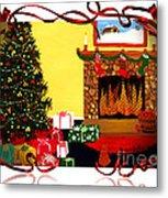 Christmas - Memories - Ribbons - Bows Metal Print