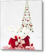 Christmas Mice Metal Print