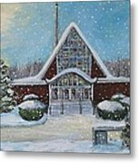 Christmas Morning At Our Lady's Church Metal Print